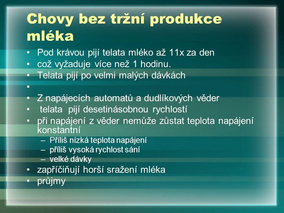 Chovy bez tržní produkce mléka