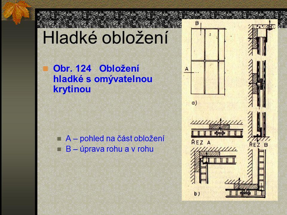 Hladké obložení Obr. 124 Obložení hladké s omývatelnou krytinou