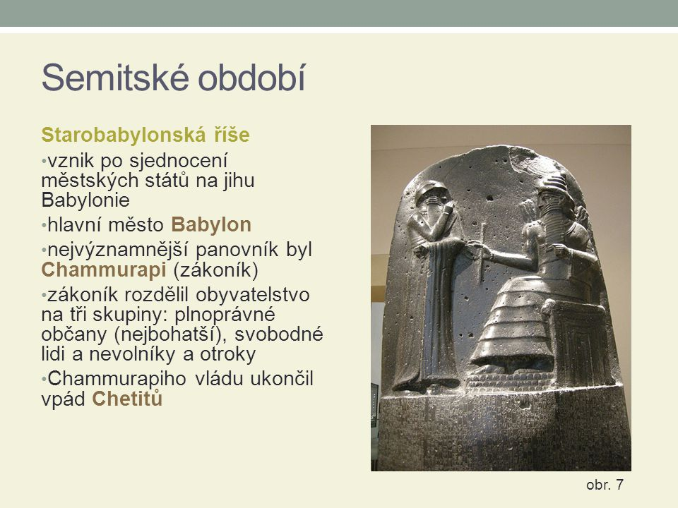 Semitské období Starobabylonská říše
