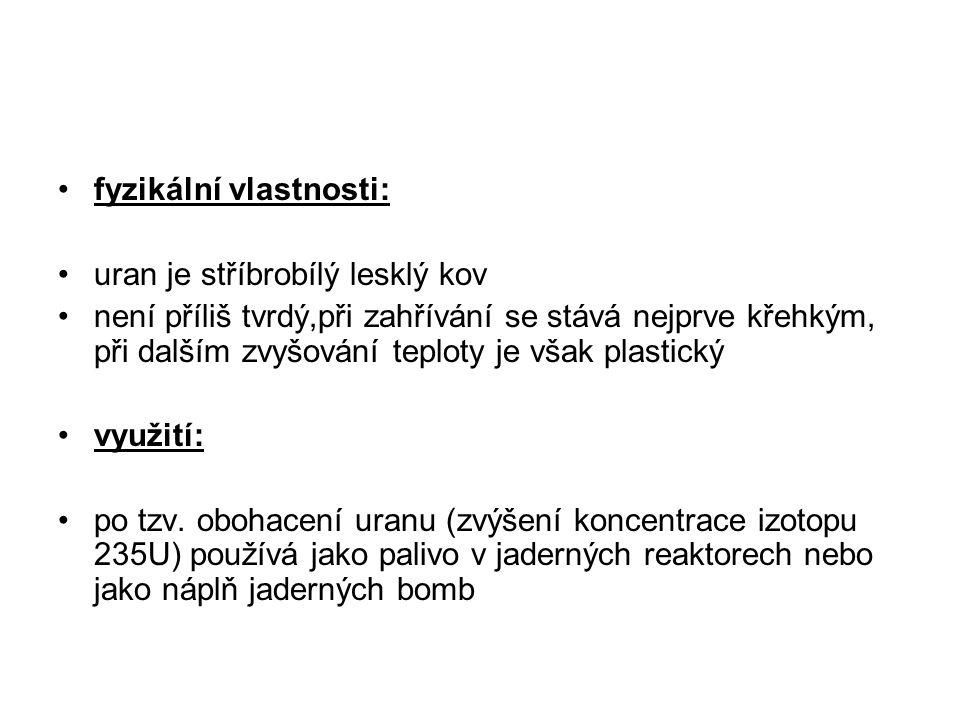 fyzikální vlastnosti: