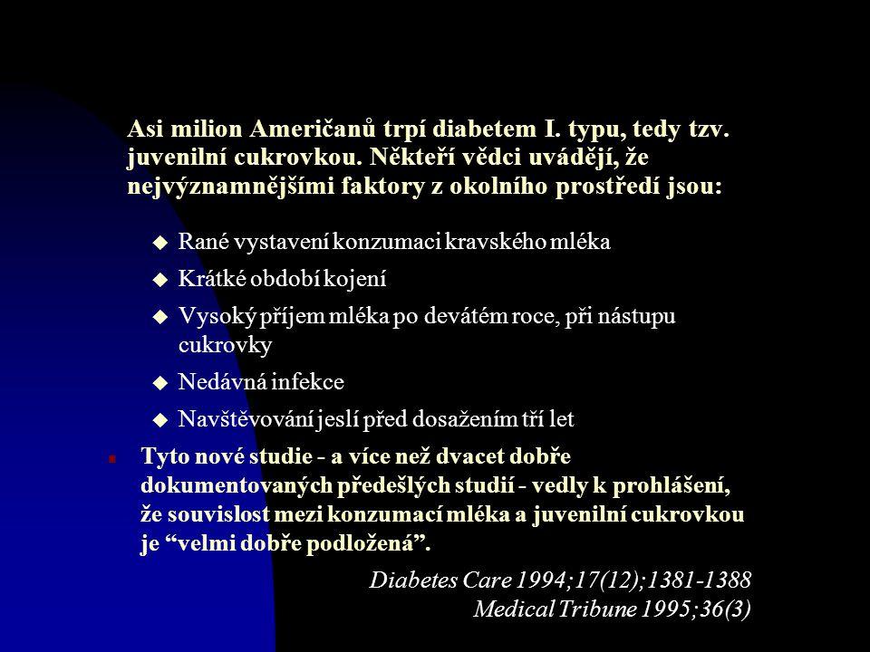 Asi milion Američanů trpí diabetem I. typu, tedy tzv