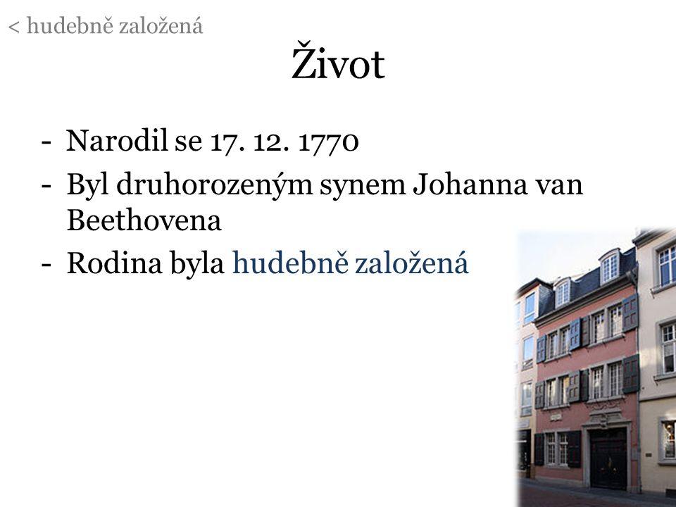 < hudebně založená Život. Narodil se 17. 12. 1770. Byl druhorozeným synem Johanna van Beethovena.
