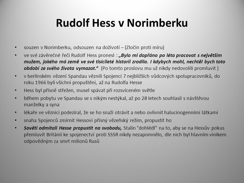 Rudolf Hess v Norimberku
