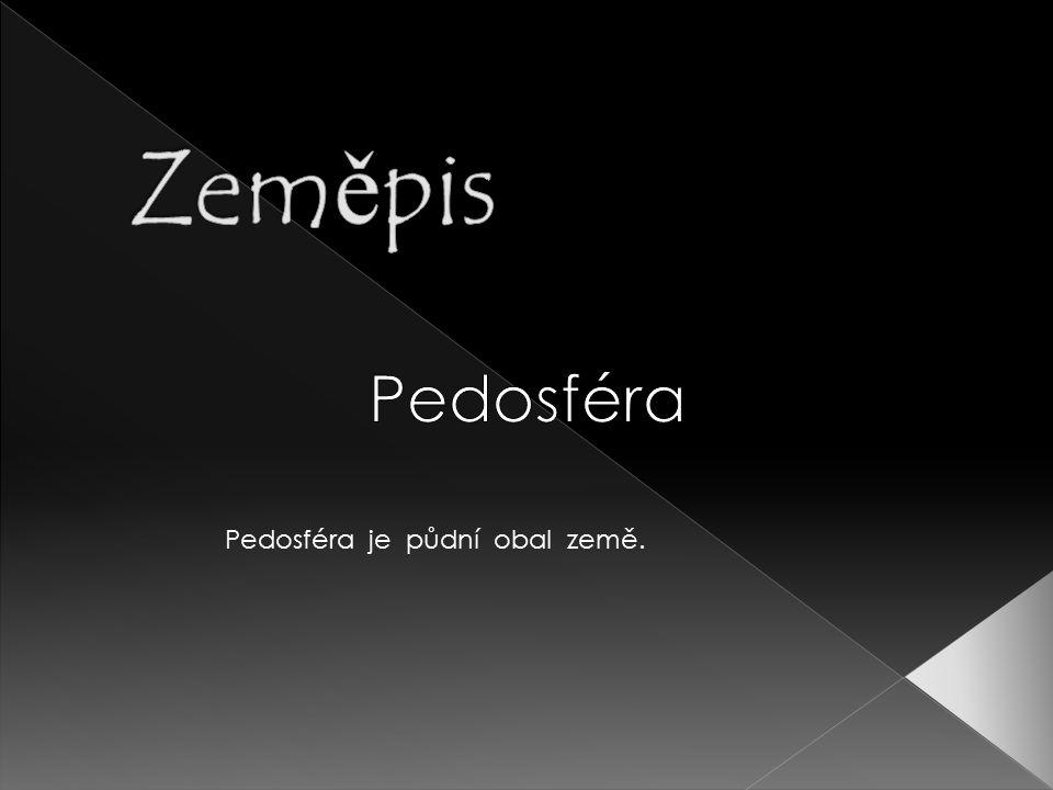 Zeměpis Pedosféra Pedosféra je půdní obal země.