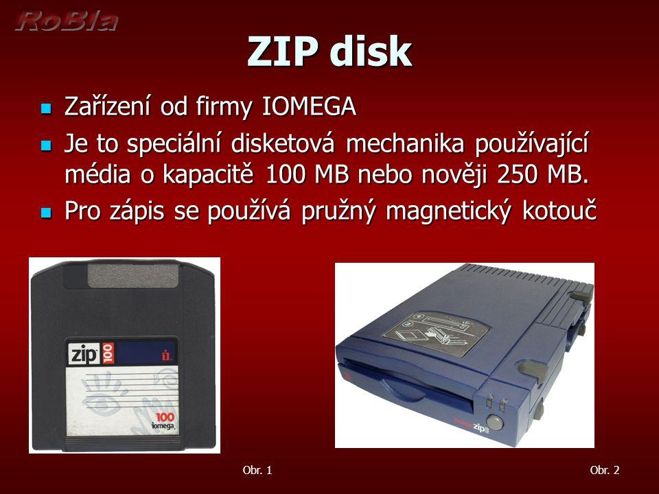 ZIP disk Zařízení od firmy IOMEGA