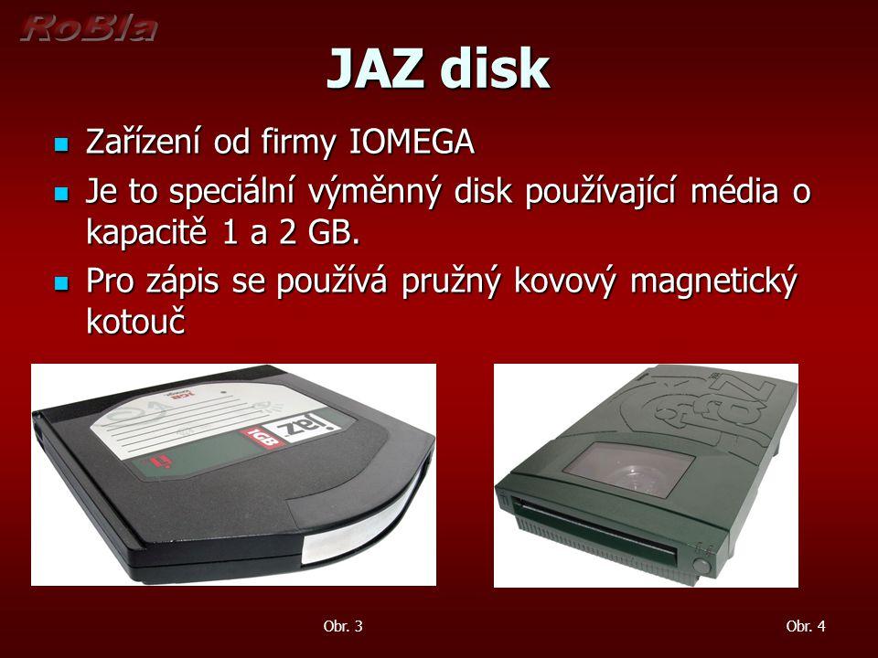 JAZ disk Zařízení od firmy IOMEGA