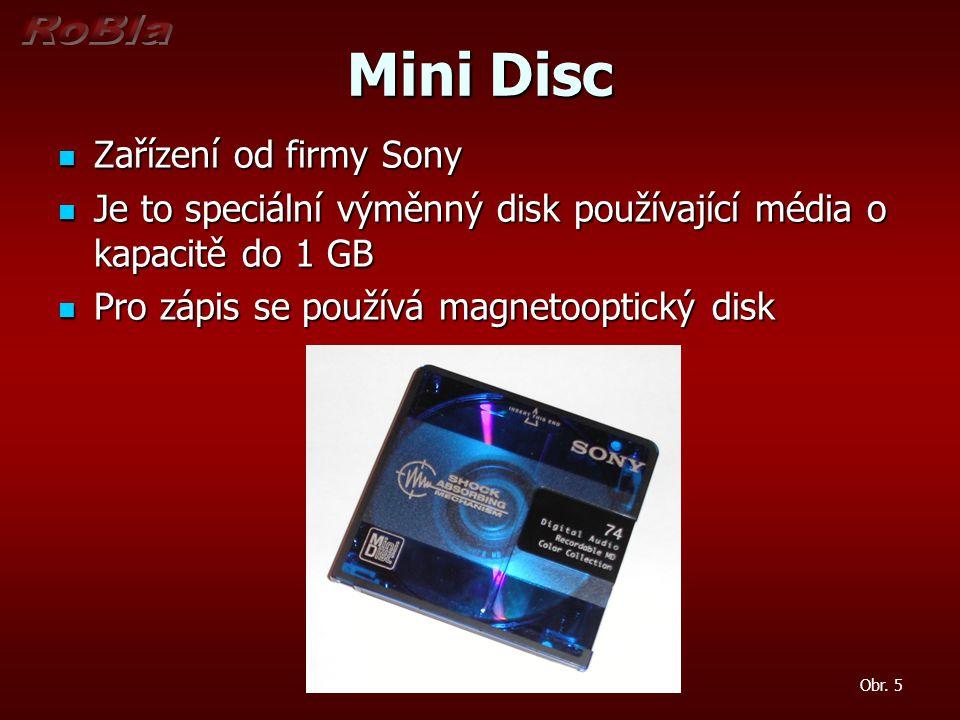 Mini Disc Zařízení od firmy Sony