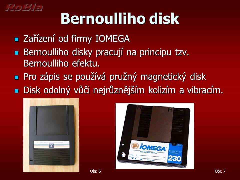 Bernoulliho disk Zařízení od firmy IOMEGA