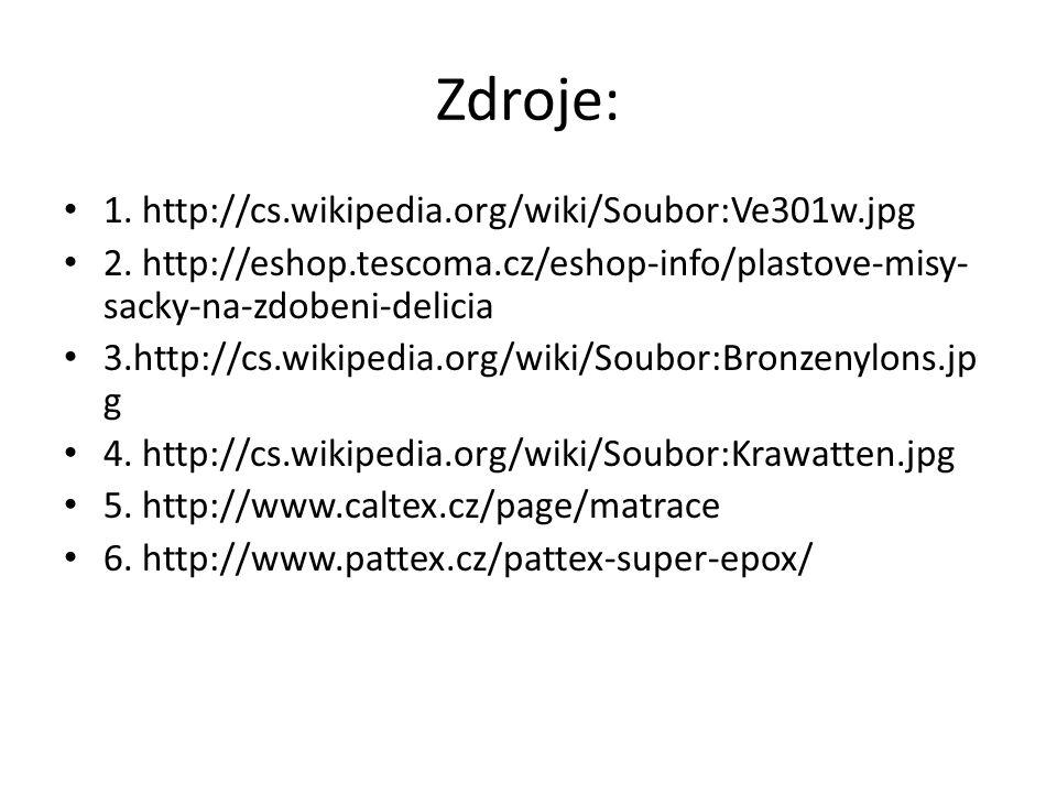 Zdroje: 1. http://cs.wikipedia.org/wiki/Soubor:Ve301w.jpg