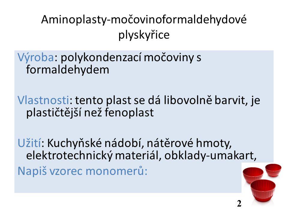Aminoplasty-močovinoformaldehydové plyskyřice
