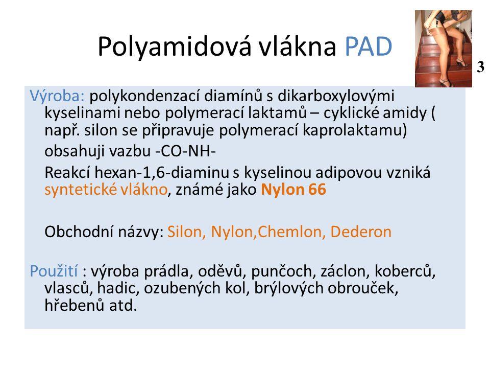 Polyamidová vlákna PAD