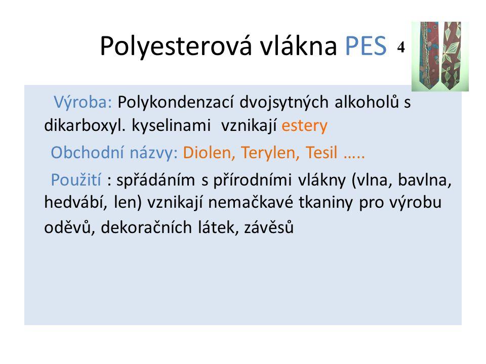 Polyesterová vlákna PES