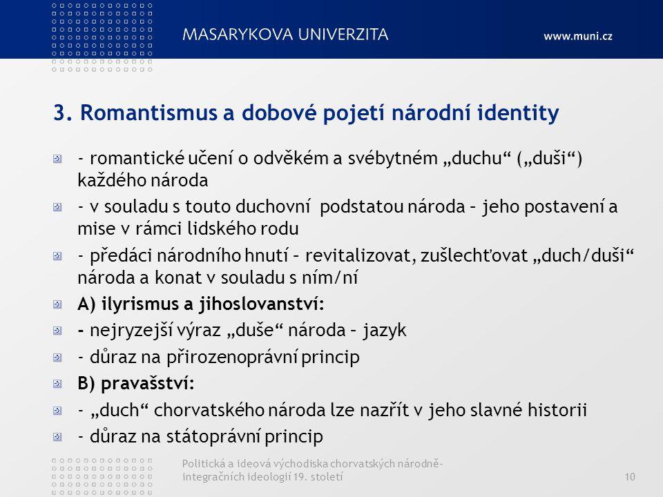 3. Romantismus a dobové pojetí národní identity