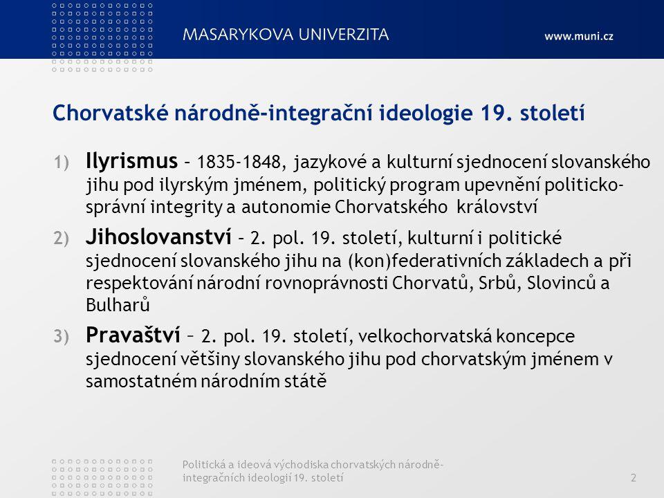 Chorvatské národně-integrační ideologie 19. století