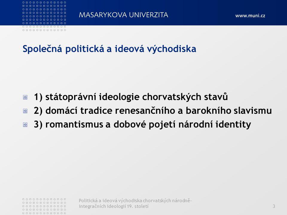 Společná politická a ideová východiska