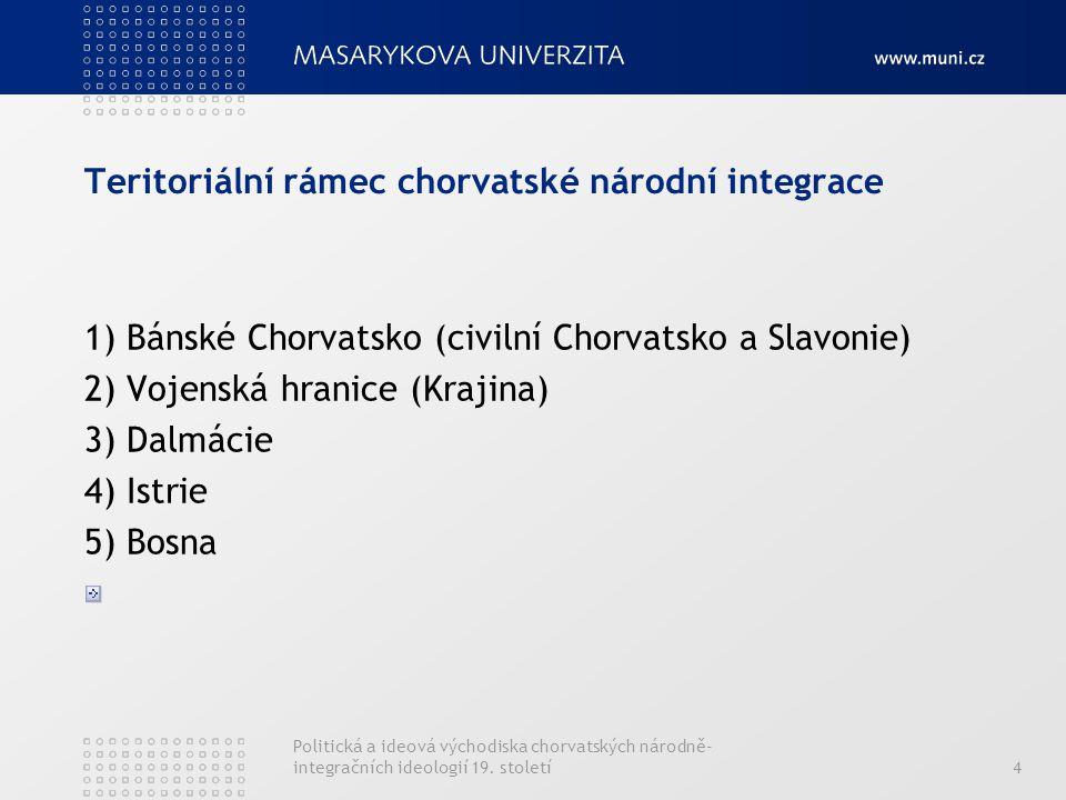 Teritoriální rámec chorvatské národní integrace