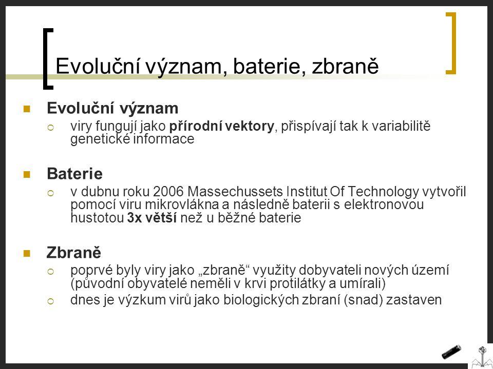 Evoluční význam, baterie, zbraně