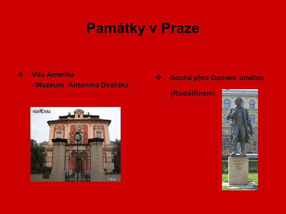Památky v Praze Socha před Domem umělců Vila Amerika