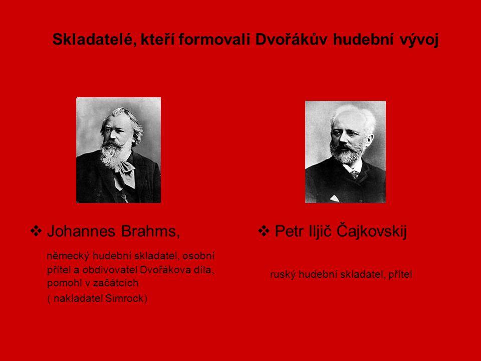 Skladatelé, kteří formovali Dvořákův hudební vývoj