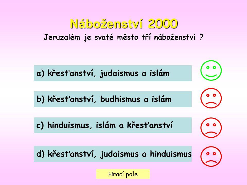 Jeruzalém je svaté město tří náboženství