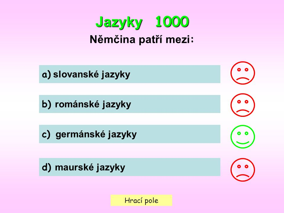 Jazyky 1000 Němčina patří mezi: a) slovanské jazyky b) románské jazyky