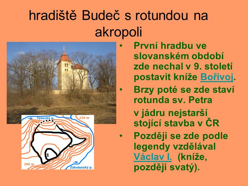 hradiště Budeč s rotundou na akropoli