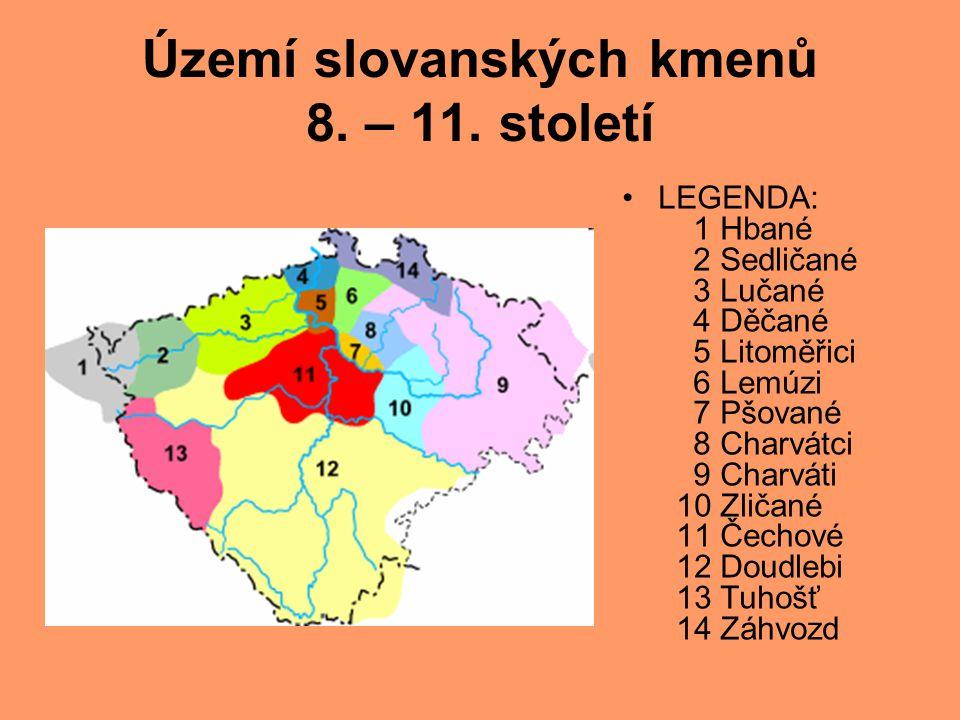 Území slovanských kmenů 8. – 11. století