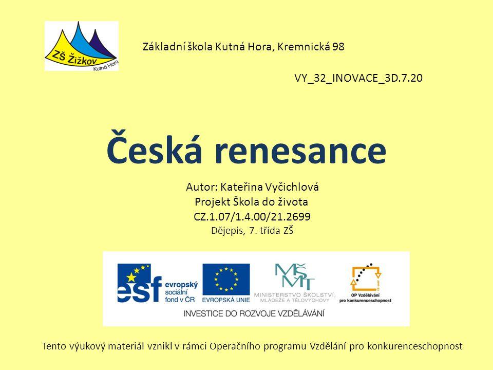 Česká renesance Základní škola Kutná Hora, Kremnická 98