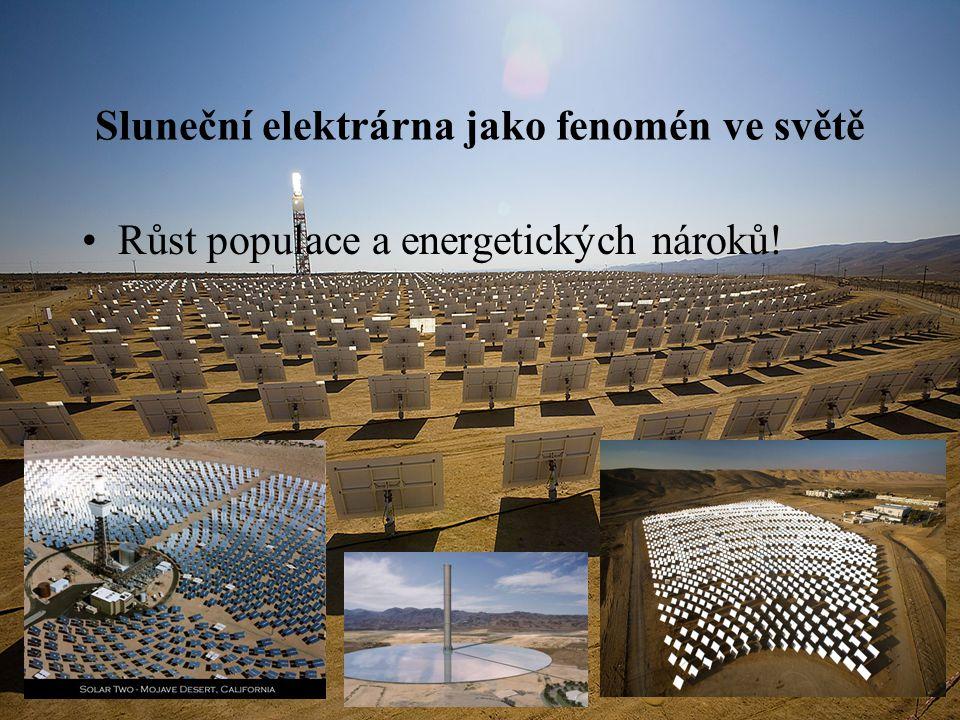 Sluneční elektrárna jako fenomén ve světě