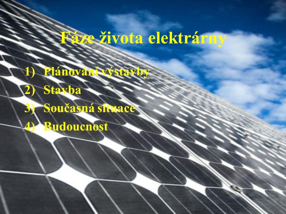 Fáze života elektrárny