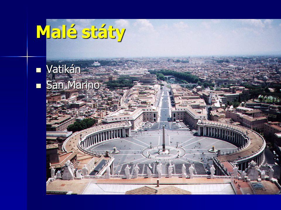 Malé státy Vatikán San Marino