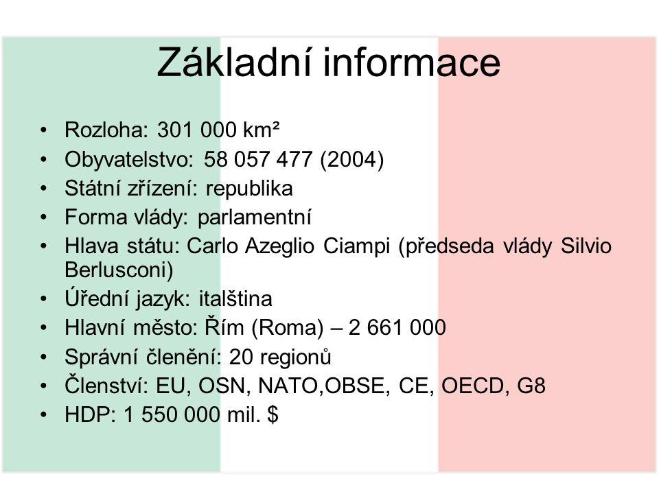 Základní informace Rozloha: 301 000 km²