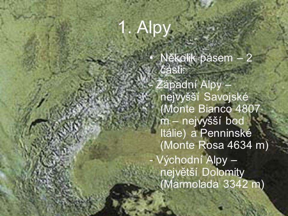 1. Alpy Několik pásem – 2 části: