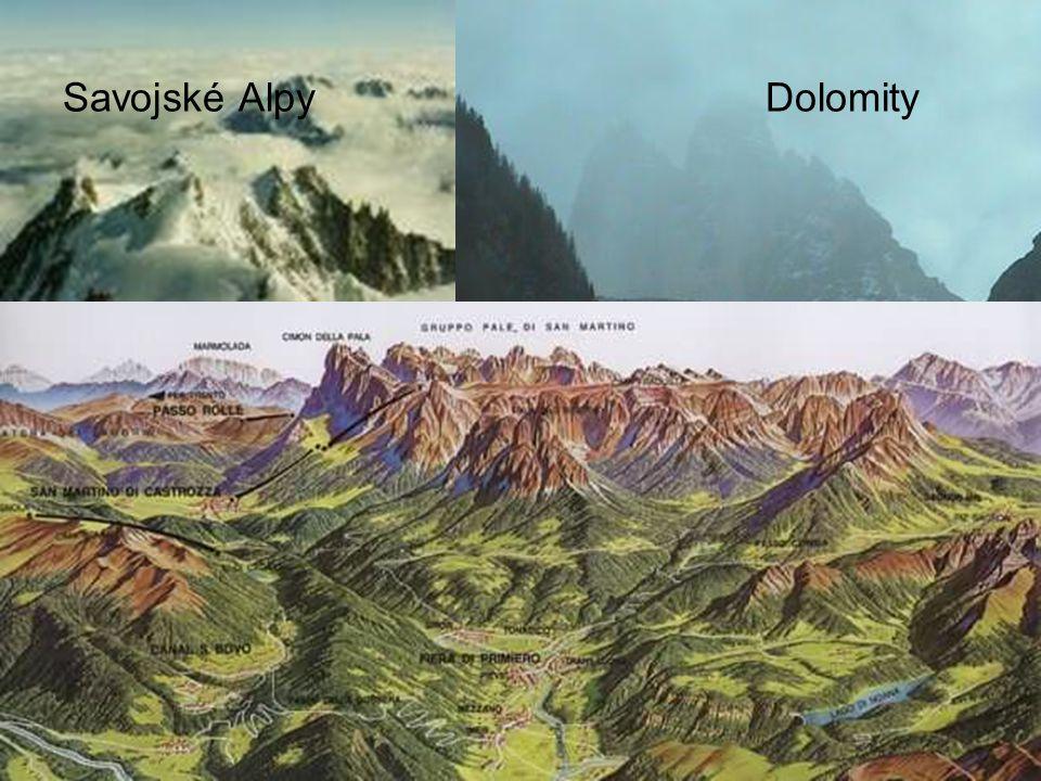 Savojské Alpy Dolomity