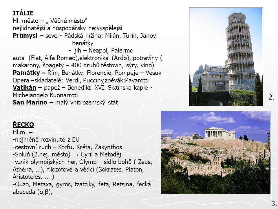 """2. 3. ITÁLIE Hl. město – """" Věčné město"""