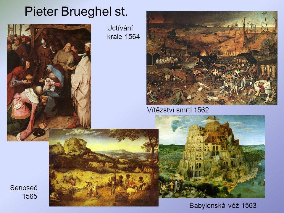 Pieter Brueghel st. Uctívání krále 1564 Vítězství smrti 1562