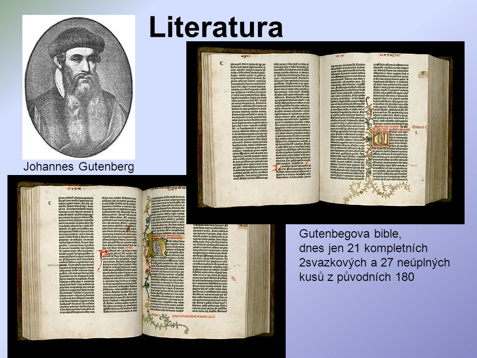 Literatura Johannes Gutenberg