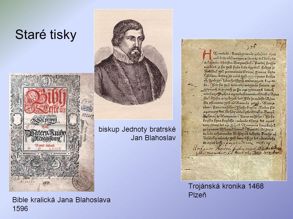 Staré tisky biskup Jednoty bratrské Jan Blahoslav