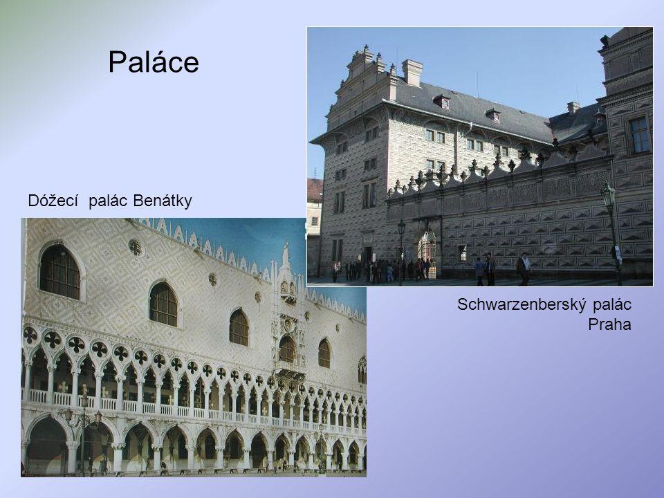 Paláce Dóžecí palác Benátky Schwarzenberský palác Praha