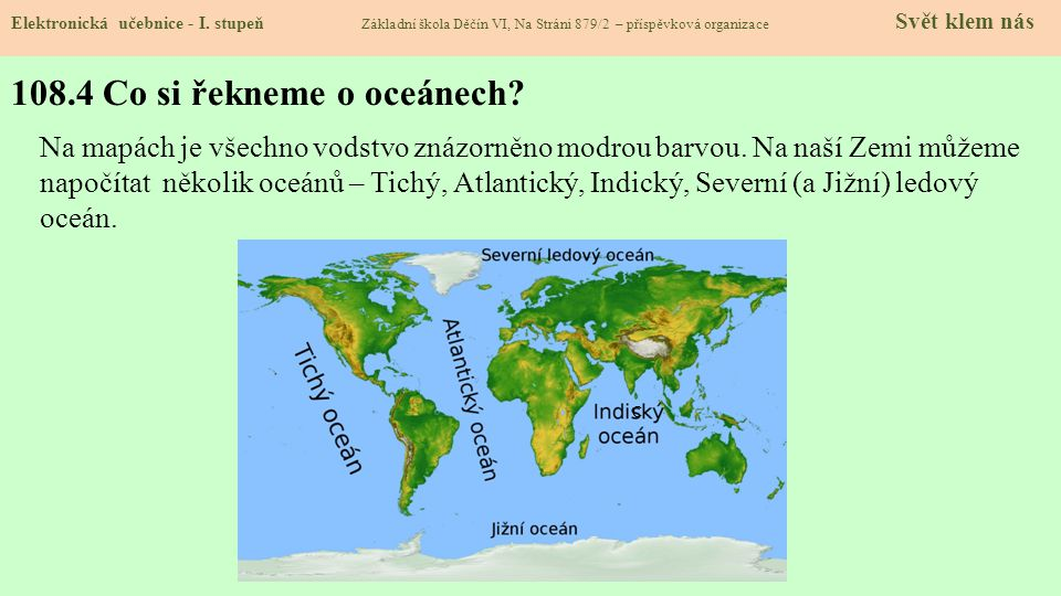 108.4 Co si řekneme o oceánech