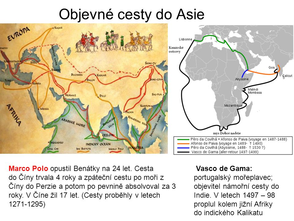 Objevné cesty do Asie Marco Polo opustil Benátky na 24 let. Cesta