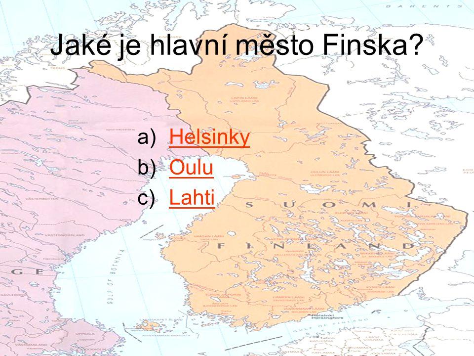 Jaké je hlavní město Finska