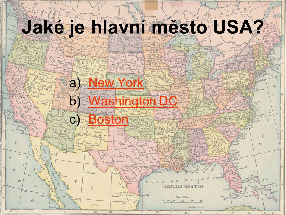 Jaké je hlavní město USA