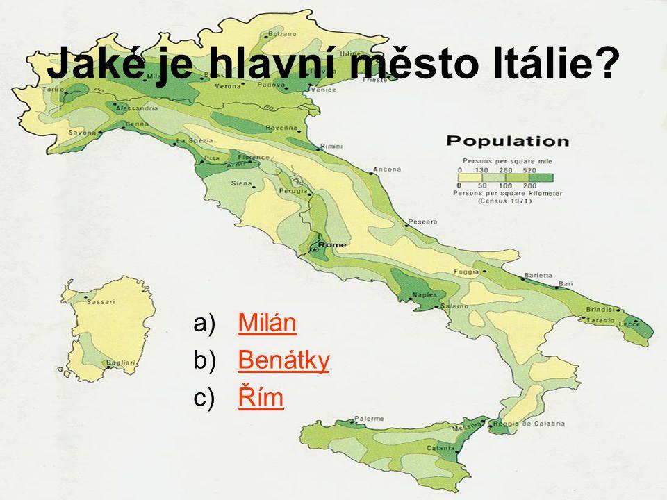 Jaké je hlavní město Itálie