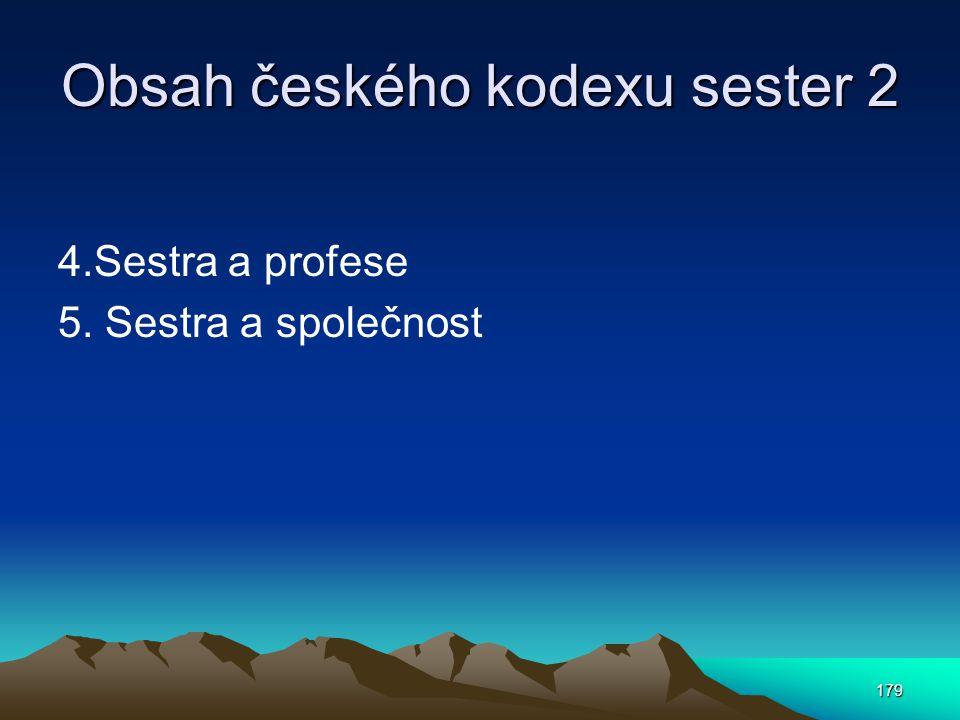 Obsah českého kodexu sester 2