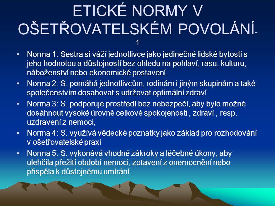 ETICKÉ NORMY V OŠETŘOVATELSKÉM POVOLÁNÍ-1