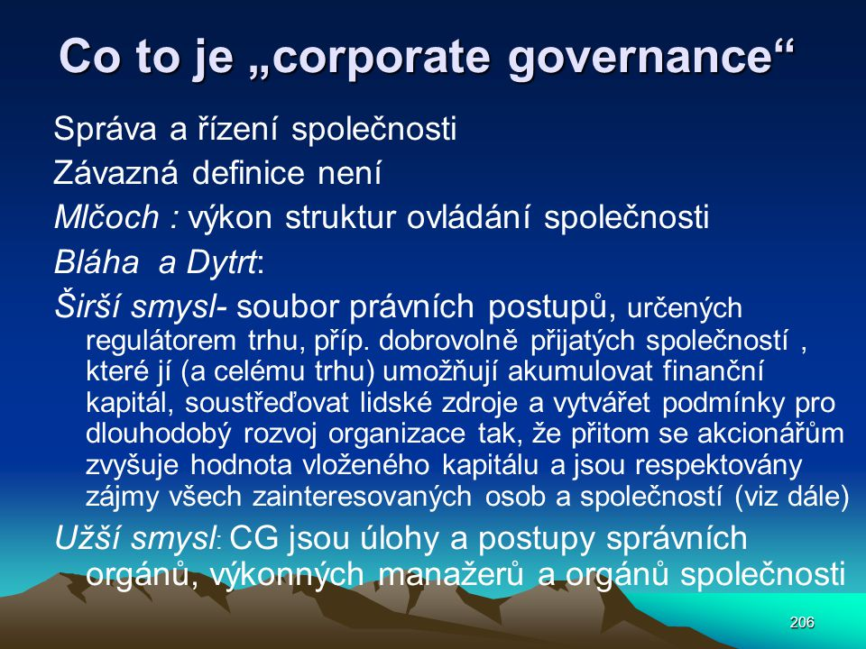 "Co to je ""corporate governance"
