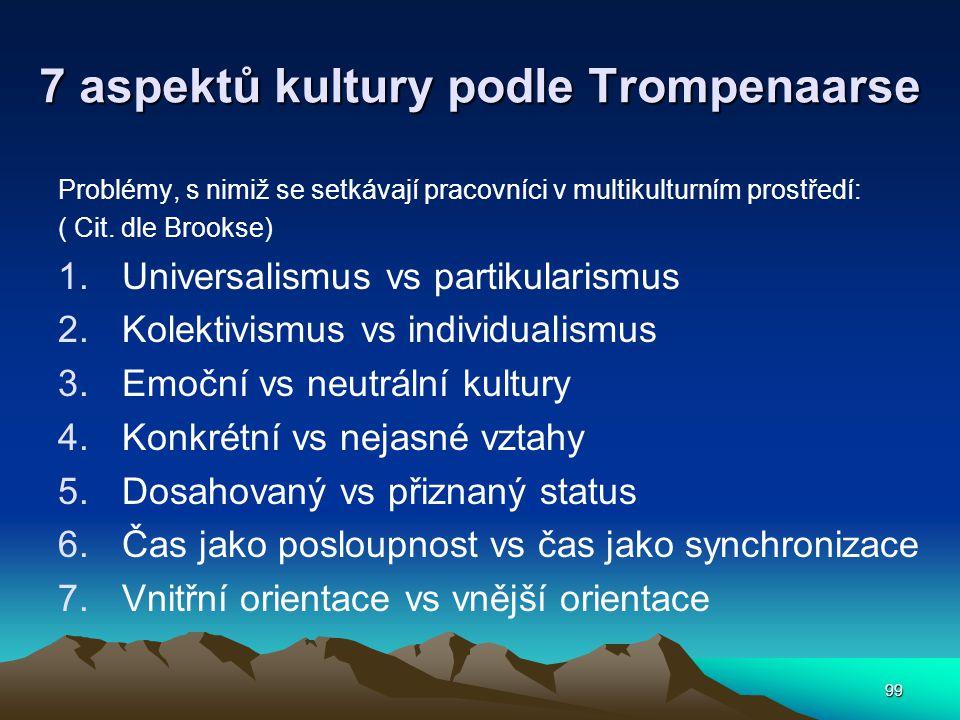 7 aspektů kultury podle Trompenaarse