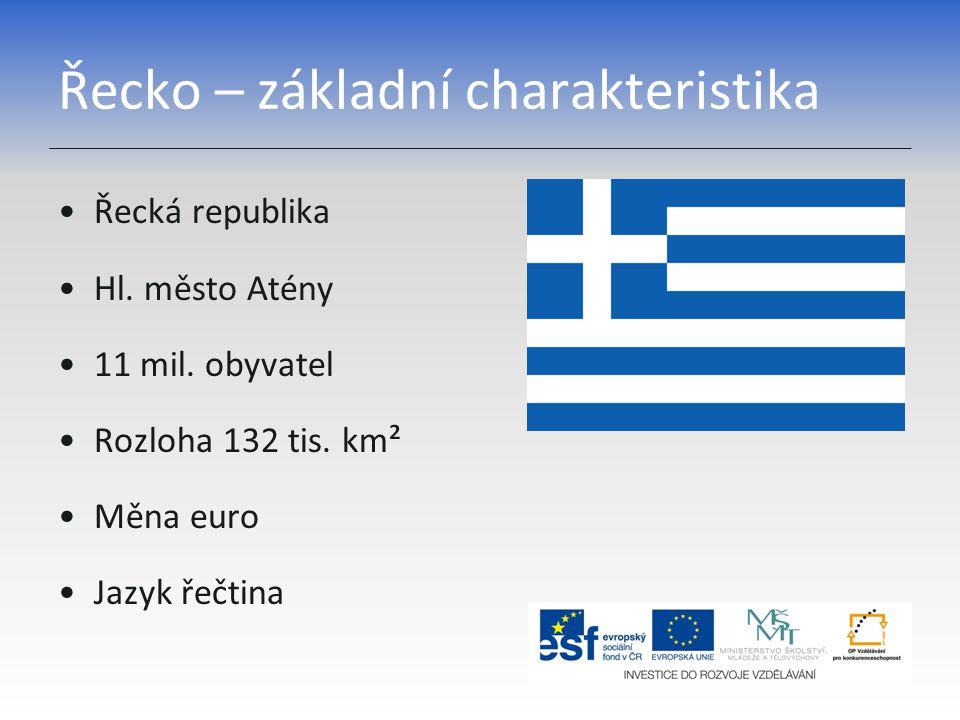 Řecko – základní charakteristika