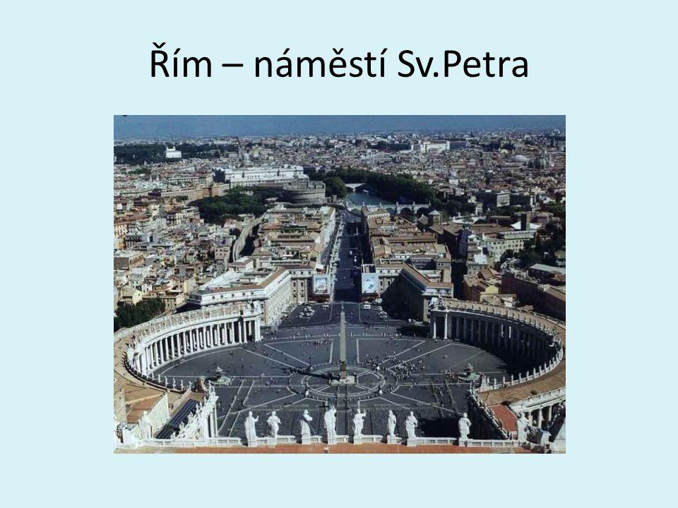 Řím – náměstí Sv.Petra